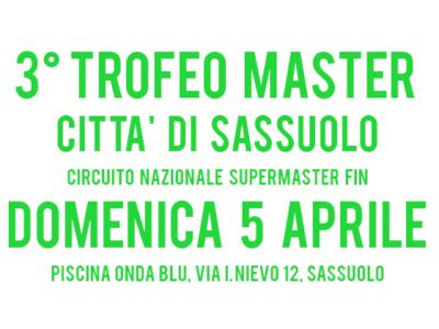 3° Trofeo Master Città di Sassuolo